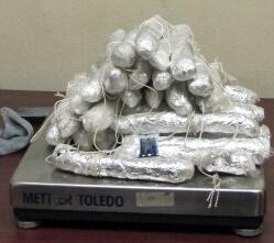 30 packages of meth seized from smuggling vehicle