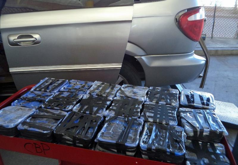 Nearly 42 pounds of meth were seized from a vehicle referred for a secondary search on May 26