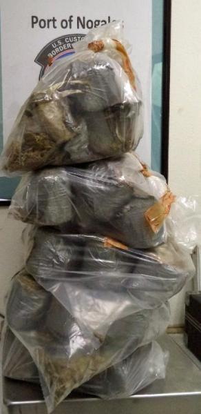 Nearly 64 pounds of marijuana are seized by CBP officers at the DeConcini crossing in Nogales.
