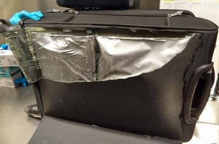 More than three pounds of heroin were seized by CBP officers at the Mariposa crossing over the weekend, after it was discovered within the lining of a suitcase inside of a smuggling vehicle