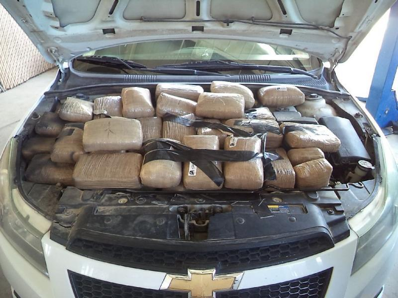 Smugglers attempted to hide more than 300 pounds of marijuana from officers at the RHC Port of Douglas