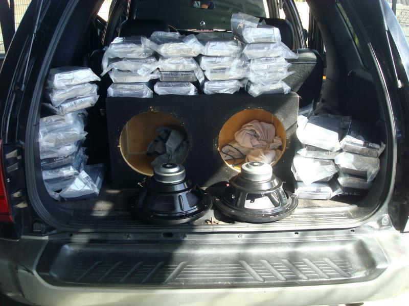 Agents discovered 37 packages of cocaine within the rear cargo area of a smuggling vehicle