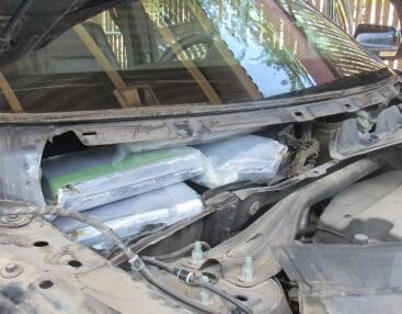 Officers at the Port of San Luis seized 54 pounds of cocaine that was removed from a smuggling vehicle