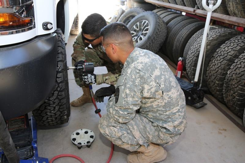National Guard personnel have made a significant impact in the maintenance of the Ajo Station fleet