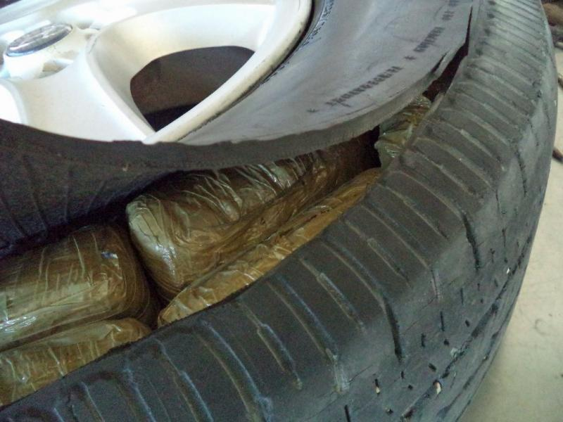 CBP officers at the Port of Douglas, located and seized packages of marijuana that were hidden within the tires of a smuggling vehicle