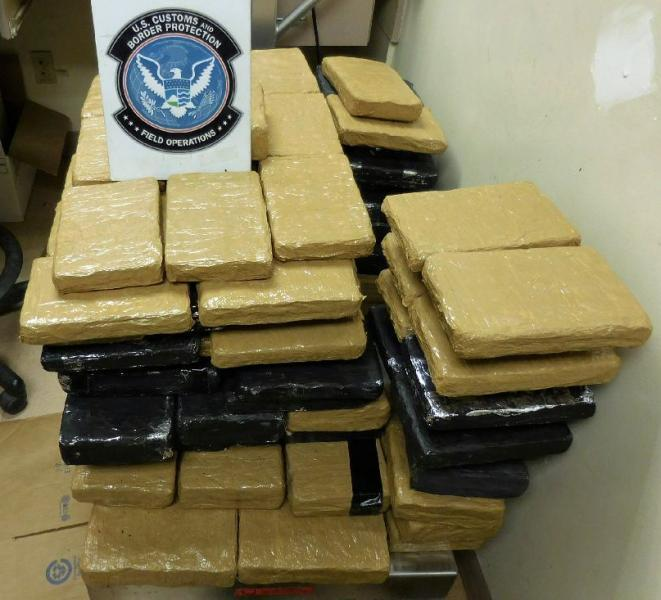 More than 130 packages of marijuana were removed from a smuggling vehicle, by officers at the Port of Douglas