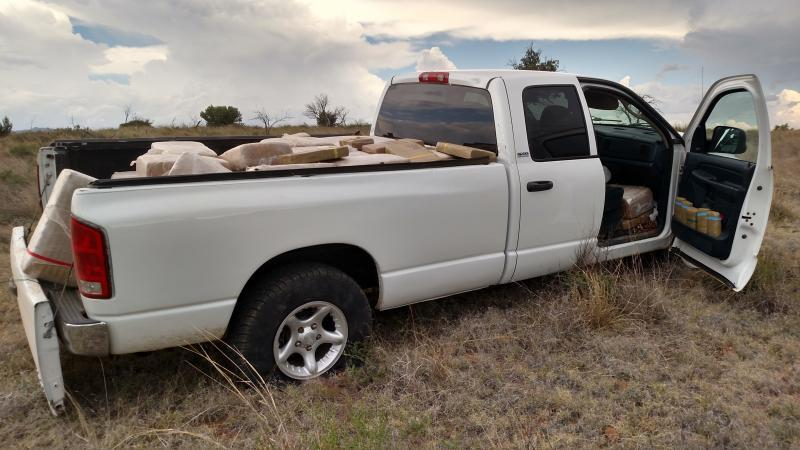 Border Patrol agents assigned to the Sonoita Station seized ton of marijuana as well as a gram of cocaine, in addition to two smugglers