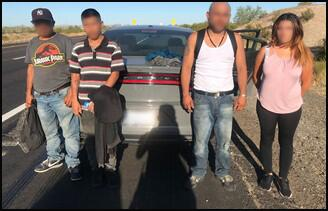 Agents made the arrest on Monday night, east of Yuma