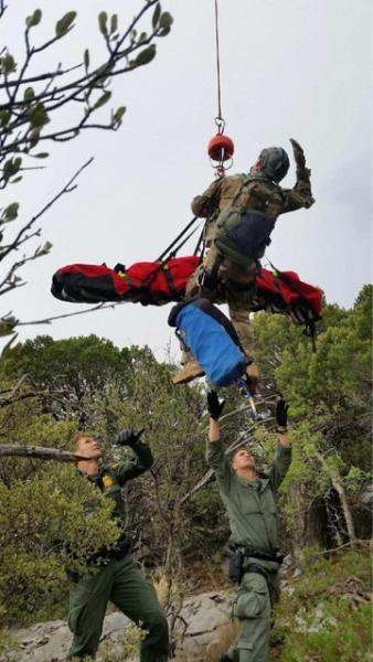 DPS Air Rescue assisted agents from the Brian A. Terry Station in the rescue of an injured Mexican national