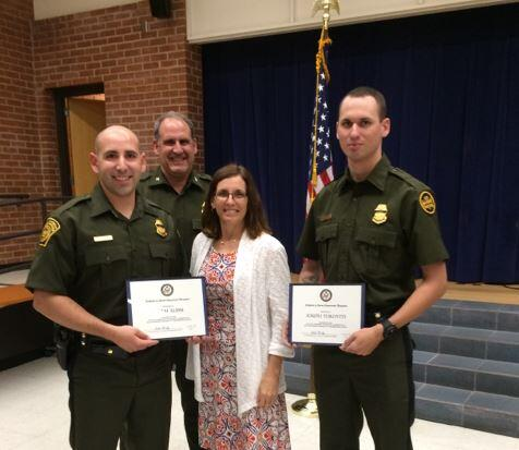 Willcox Station agents recieved Heroism Award from Rep. Martha McSally