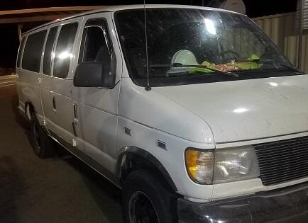 Agents in Wellton referred a van for further inspection and found 12 illegal aliens