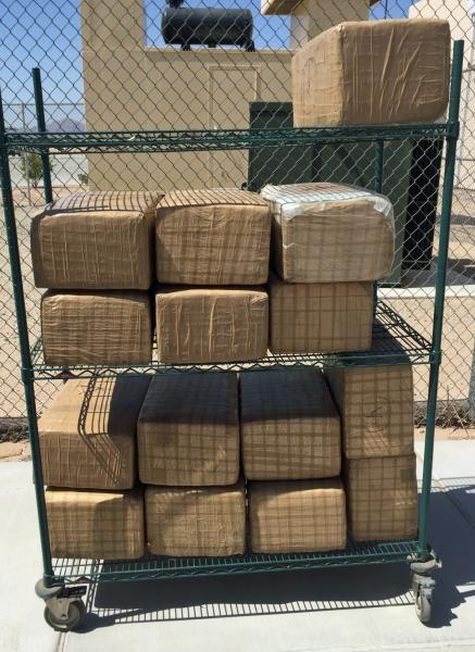 More than 400 pounds of marijuana was seized by agents east of Yuma, after stopping a smuggling vehicle attempting to evade capture
