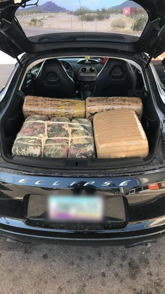 Agents arrested a 20-year-old smuggler after finding 155 pounds of marijuana inside of the vehicle he was driving