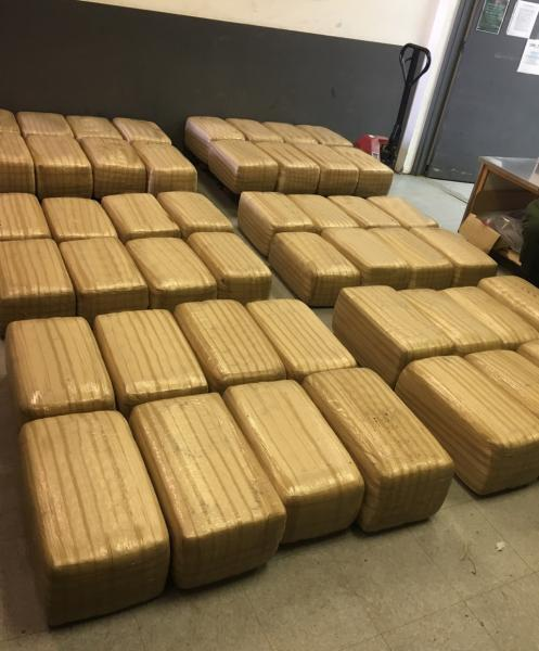 Agents seized 24 bundles of marijuana that was hidden beneath brush in the area