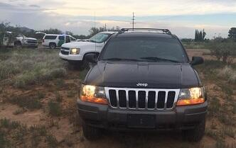 Agents stopped a vehicle after it attempted to avoid stopping jat the SR90 immigration checkpoint
