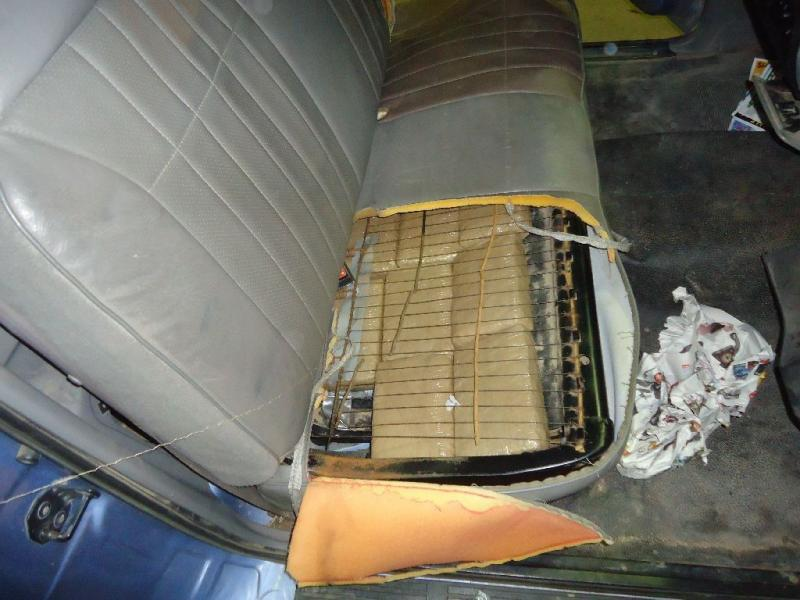 Officers found marijuana packages throughout a smuggling vehicle, including witihin the seats