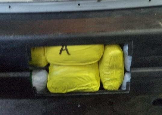 Officers at the DeConcini crossing seized 58 pounds of meth that was discovered within the rear bumper.
