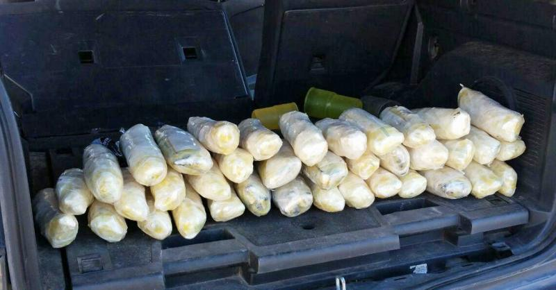 Wellton Station Border Patrol agents seized 40 pounds of meth, that was hidden inside of a smuggling vehicle