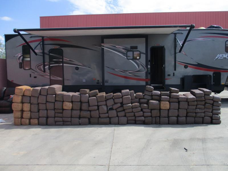 Officers seized $484K worth of marijuana from inside of a travel trailer