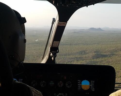 National Guard aircraft on patrol along the border