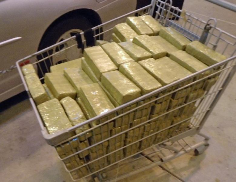 Nearly $111,000 worth of marijuana was removed from a smuggling vehicle by CBP officers at the Port of Douglas