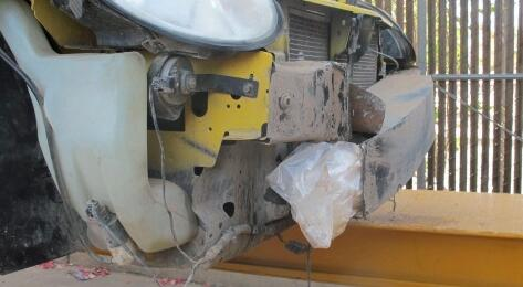 CBP officers find packages of methamphetamine when they searched the front bumper of a smuggling vehicle