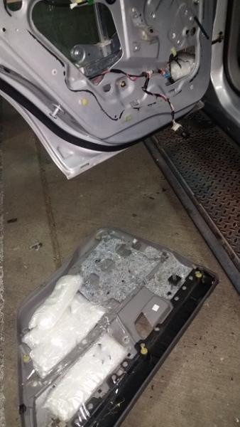 CBP officers discovered 158 pounds of meth hidden inside of a vehicle that was attempting to enter the U.S. through the Port of Nogales in Arizona.