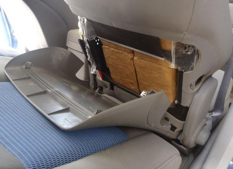 marijuana hidden behind seats of drug smuggling vehicle
