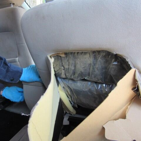 A CBP narcotics detection canine alerted officers to more than 40 pounds of meth