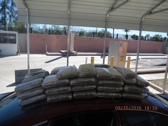 Officers at the Port of Lukeville discovered 175 pounds of marijuana when they searched a vehicle being driven by a Tucson woman