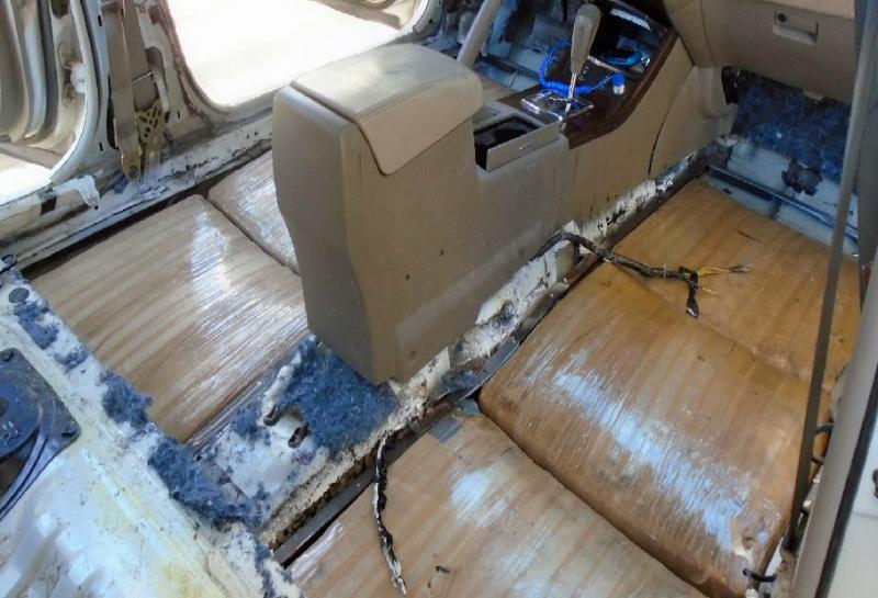 A CBP narcotics detection canine alerted officers to the location of 123 pounds of marijuana within the flooring of a smuggling vehicle