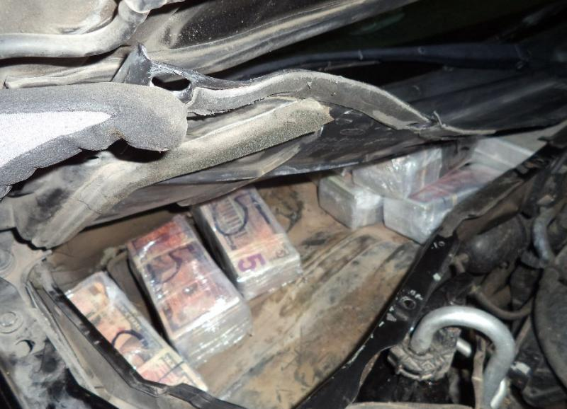 Hidden Cash Seized by Customs