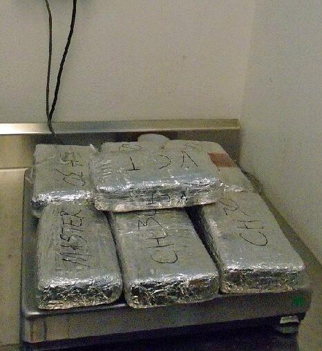CBP officers at teh DeConcini crossing seized a combination of cocaine, heroin and meth from within a VW sedan