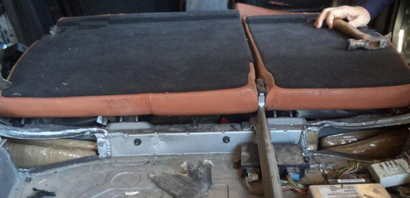 Packages of heroin are hidden underneath the back seats of a smuggling vehicle that was stopped by CBP officers on Saturday.