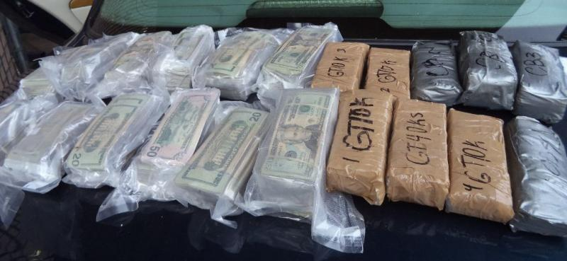A total of 20 packages of meth were removed from a smuggling vehicle, weighing nearly 21 pounds
