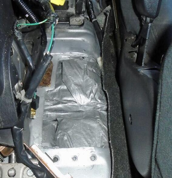 A CBP narcotics detection canine alerted officers to the presence of meth that was hidden between the center console of a smuggling vehicle