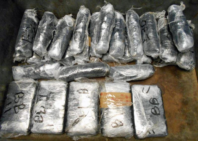 CBP officers at the Port of Nogales seized 31 packages of cocaine and meth from within a drugs smuggling vehicle