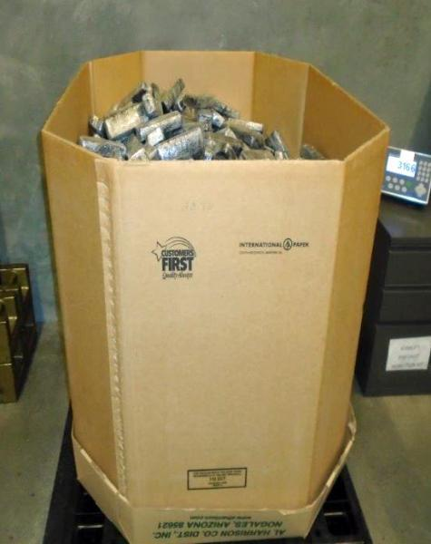 Nearly 1,600 packages of marijuana were removed from a tractor trailer and seized by CBP officers at the Mariposa Commercial Facility