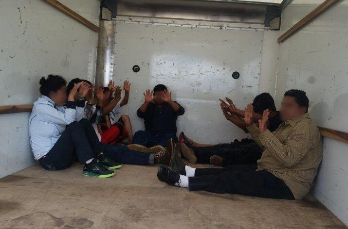 Border Patrol agents rescued nine individuals from the inside of a rental truck that was stopped at the I-19 traffic checkpoint on Oct. 16