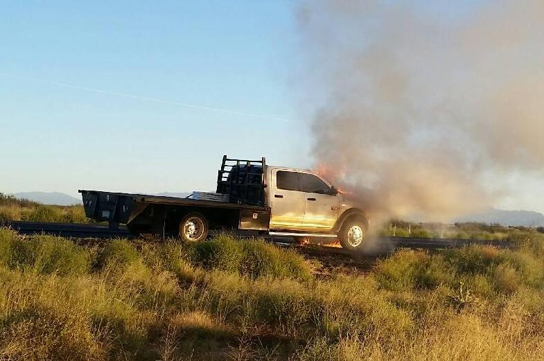 Border Patrol agents assigned to the Willcox Station secured the driver of a burning vehicle along Interstate 10, prior to fire service personnel arriving on scene.