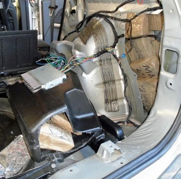 CBP officers at the DeConcini crossing located 43 pounds of meth hidden within the rear cargo areas of the smuggling vehicle