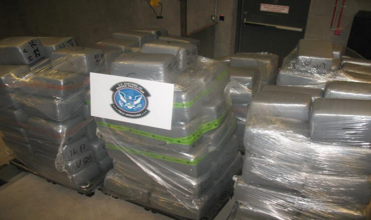 A total of 200 bundles of marijuana are removed from a commercial load of electrical goods