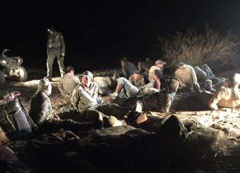 Border Patrol agents from the Wellton Station arrested 20 backpackers near Gila Bend, Ariz.
