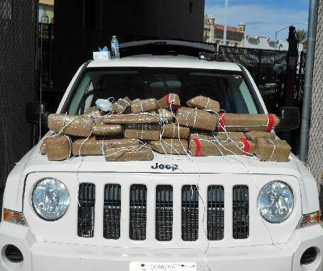 Officers removed more than 40 packages of hard drugs when they inspected a vehicle at the Port of Nogales