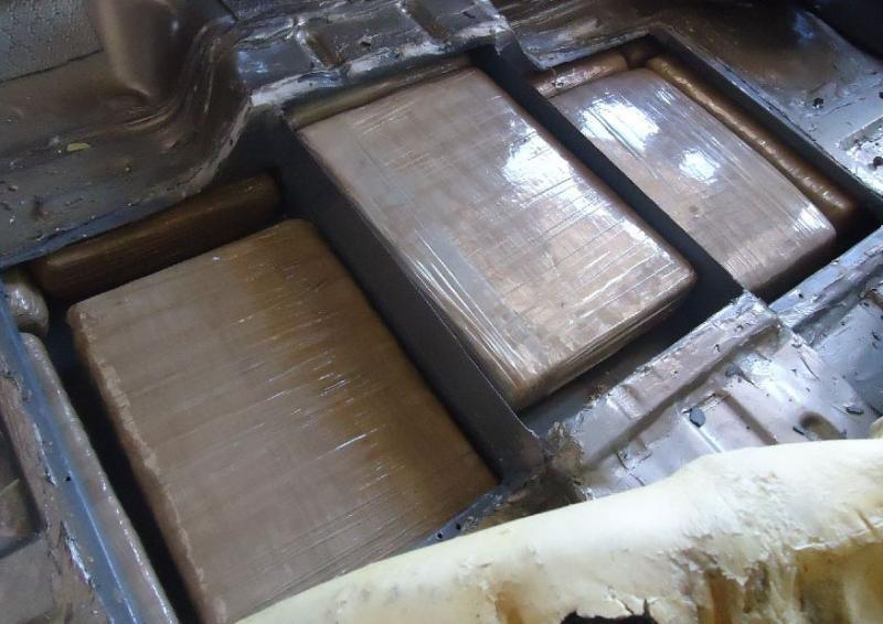 CBP officers assigned to the Port of Naco, located a load of marijuana within a compartment in the floor of a smuggling vehicle