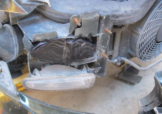 CBP officers located and seized ten packages of meth within the front of the vehicle frame