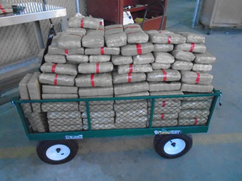 CBP officers at the Port of Douglas removed 252 packages of marijuana from a smuggling vehicle