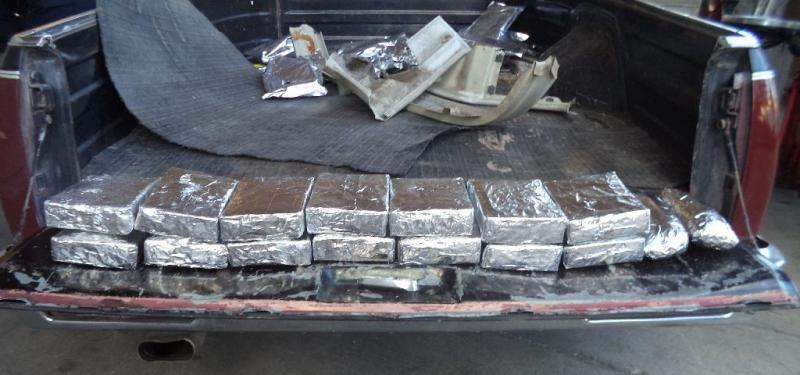 CBP officers at the Port of Nogales located and seized more than 22 pounds of meth from a smuggling vehicle