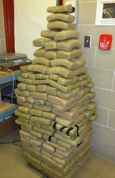 CBP officers at the Port of Douglas seized nearly 242 pounds of marijuana from within a smuggling vehicle stopped at the Port
