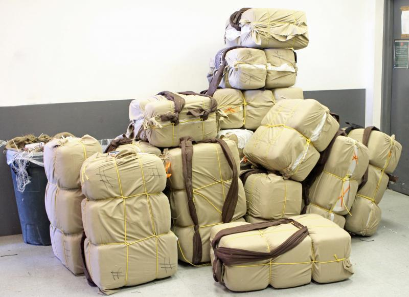 Elements from Border Patrol and Air and Marine combined forces to intercept a marijuana load of more than 1,100 pounds